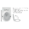 SIAMP 40 4501 15 Abattant WC Anti-Contact Double Blanc.