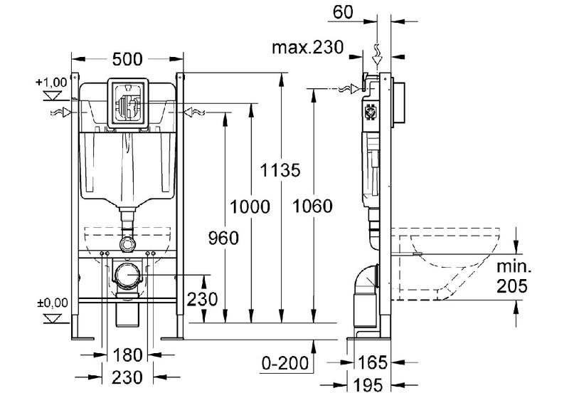 grohe 38768002 bati support rapid sl project. Black Bedroom Furniture Sets. Home Design Ideas
