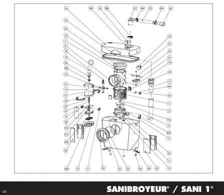 sfa mpsx moteur complet sanibroyeur sfa. Black Bedroom Furniture Sets. Home Design Ideas