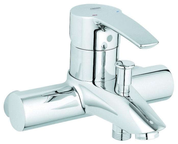 Grohe 33613001 mitigeur bain douche eurostyle mural sans for Mitigeur mural grohe