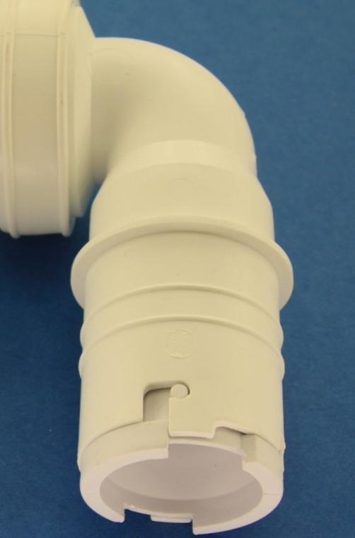 SFA COUDMANCH Coude à manchon Blanc avec clapet anti retour Saniplus
