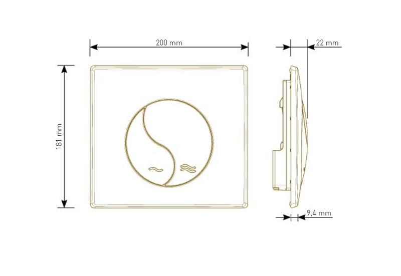 siamp 31 1800 10 plaque de commande siamp yin yang blanche. Black Bedroom Furniture Sets. Home Design Ideas