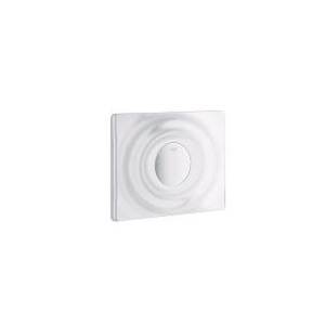 GROHE 38574SH0 Plaque de commande SURF simple touche, Blanc alpin.