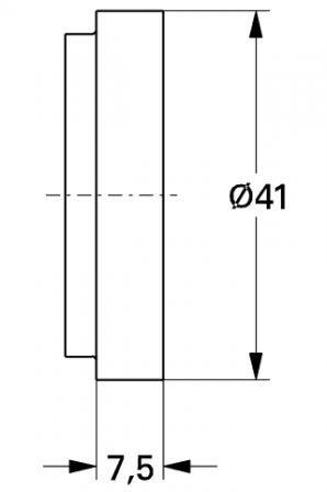 grohe 45406000 cale pour rattrapage d 39 paisseur du carrelage. Black Bedroom Furniture Sets. Home Design Ideas