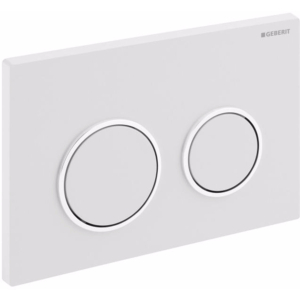 GEBERIT 115.085.KJ.1 Plaque de déclenchement Geberit Omega20, Blanc / chromé brillant / blanc.