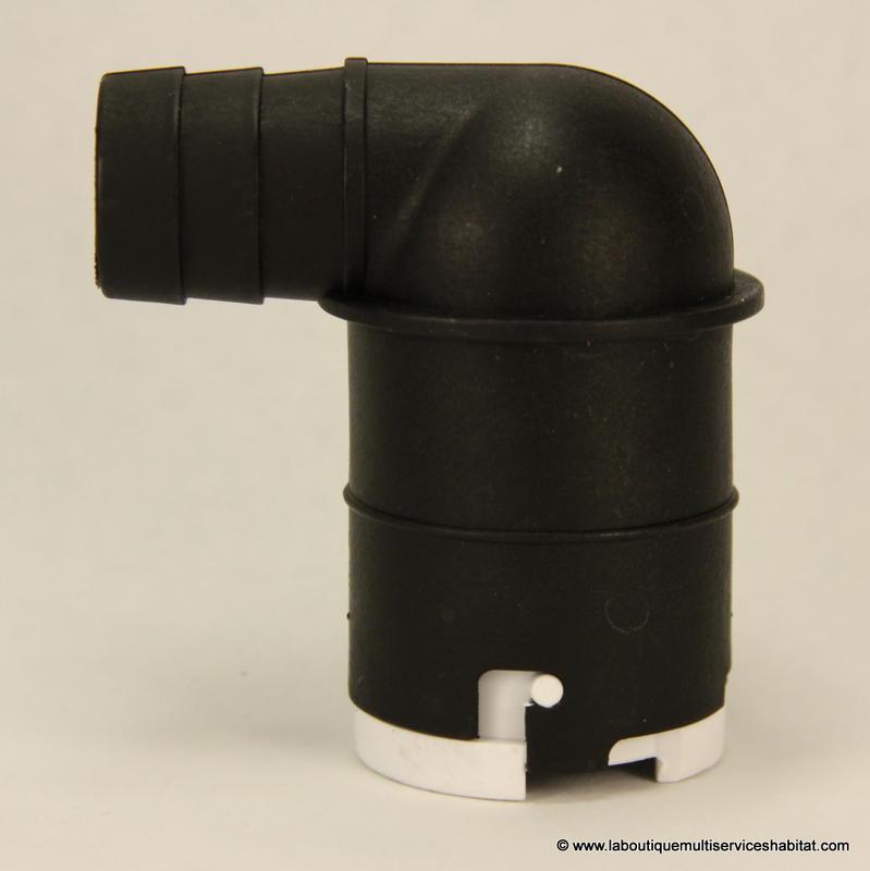 21 SFA COUDGX Coude anglais noir complet avec clapet anti retour
