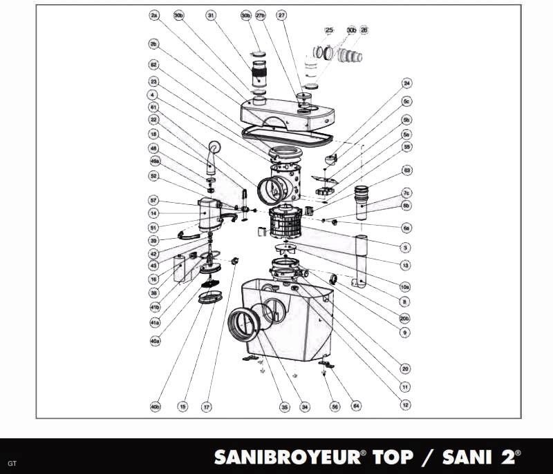 Sfa bl120264 cuve gx gt - Comment installer un sanibroyeur ...