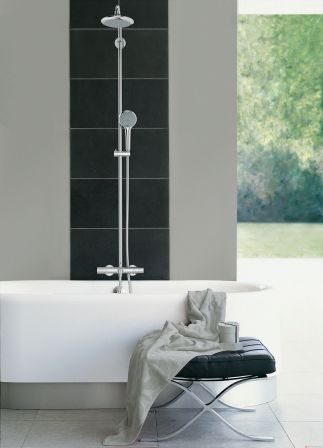 grohe 27537000 colonne de douche avec mitigeur. Black Bedroom Furniture Sets. Home Design Ideas