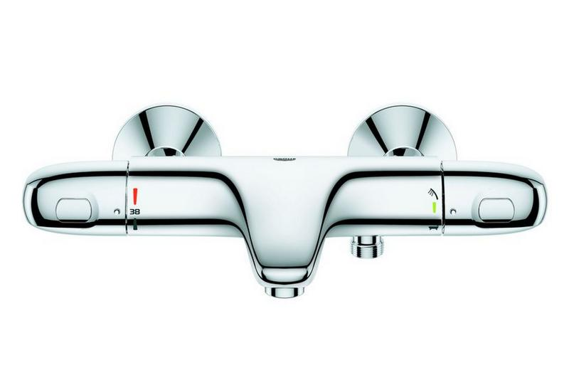 Grohe 34439003 mitigeur thermostatique bain douche - Reglage mitigeur thermostatique douche ...