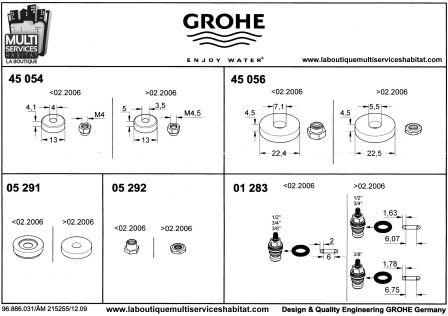 Grohe 0128300m joint torique 01 283 pi ces grohe - Robinet haut de gamme ...